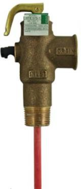 "HTE502 Pressure & Temperature Relief Valve 15mm - 1"" Extension - 850 kPa RMC"