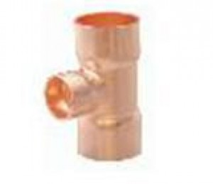 "W412 Copper Tees 20mm (3/4"") x 20mm (3/4"") x 15mm (1/2"")"