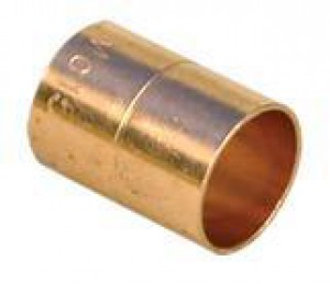 "W008 Straight Copper Couplings 15mm (1/2"") Both Ends"