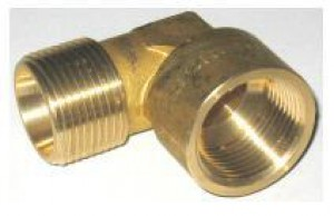 "2503 Screwed Brass Elbows 15mm (1/2"") MI X 15mm (1/2"") FI"